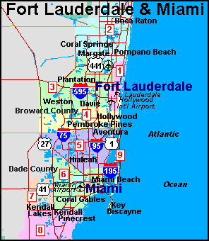 Broward County Zip Codes Maps on Real Estate Gainesville Fl